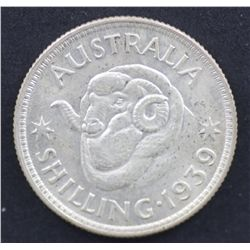 1939 Shilling, Nearly Uncirculated
