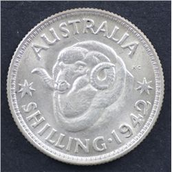 1942 Shilling Uncirculated