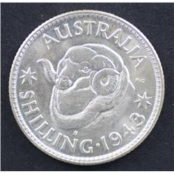 1943s Shilling Choice Uncirculated
