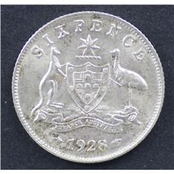 1928 Sixpence Uncirculated
