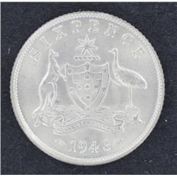 1946 Sixpence Choice Uncirculated