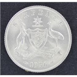 1956 Sixpence Uncirculated