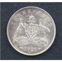 1921M Threepence Choice Uncirculated