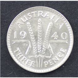 1940 Threepence Choice Uncirculated