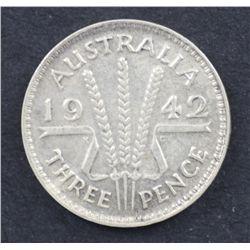1942M Threepence VF