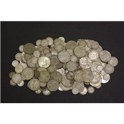 1 Kilo in wiegt of Australian florins, shillings, sixpences & Threepence