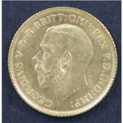 1915 S Half Sovereign Choice Uncirculated