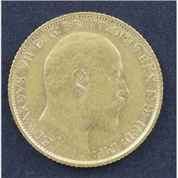 1908 S Half Sovereign VF