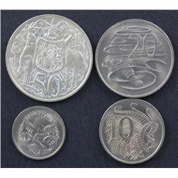 1966 5c , 10c, 20c & 50c BU