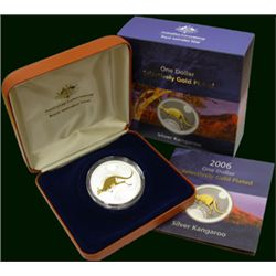 2006 Selectivley Gold Plated Silver Kangaroo