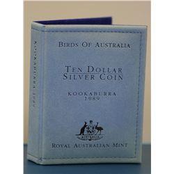 Kookaburra $10 Proofs 1989 (4) Coins