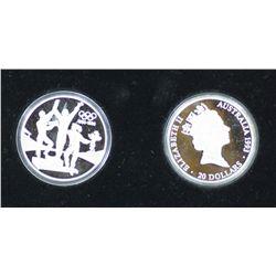 Australia Olympic proofs 1993, 2 coins set. Sydney coin fair