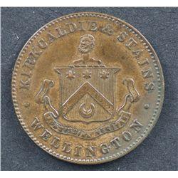 New Zealand ½ Penny Token Kirkaldie & Stains