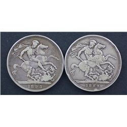 GB Crowns 1889, 1890, 1893, 1896