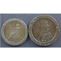 GB Proclomation Penny 1797 & 2 pence 1797