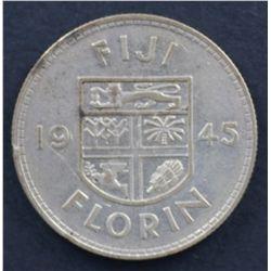 Fiji Florin 1945 VF