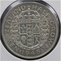 New Zealand ½ Crowns 1937 & 1946 EF or better