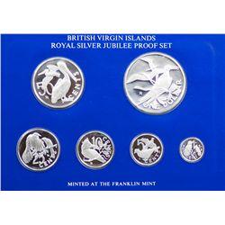 British Virgin Islands 1977 Sterling Silver Proof Set