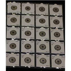 Fiji Halfpennies 1952 All Choice Unc 20 Coins