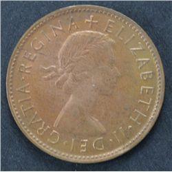38 1953 Australian Half Pennies Uncirculated