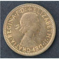 100 1956 GB Fathings B. Uncirculated