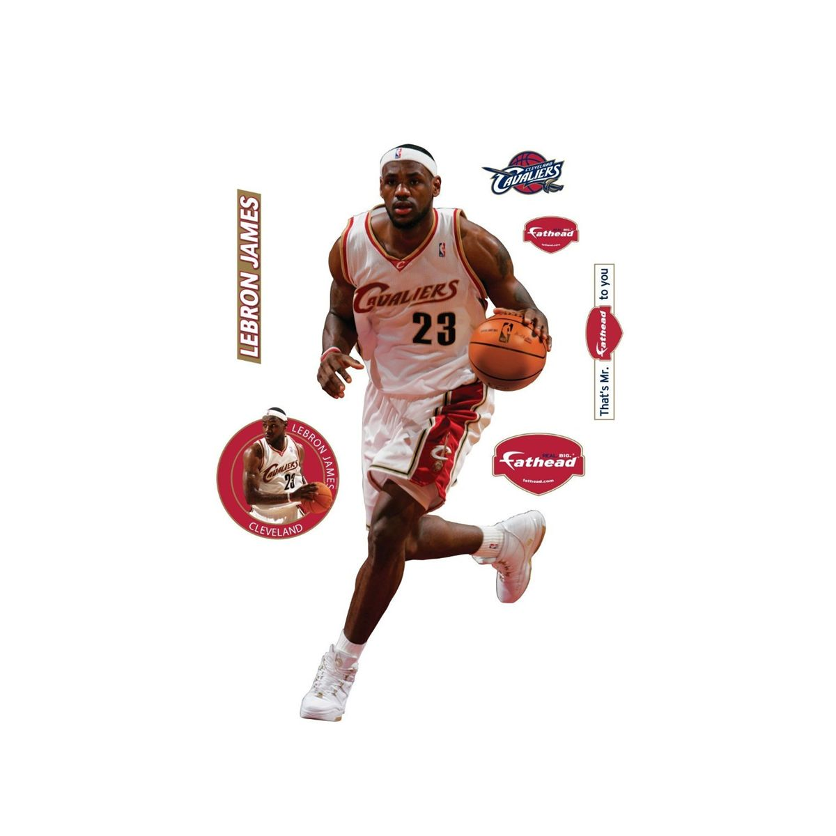 d27b1534ba7b LEBRON JAMES Cleveland Cavaliers FATHEAD Unused MINT. Loading zoom