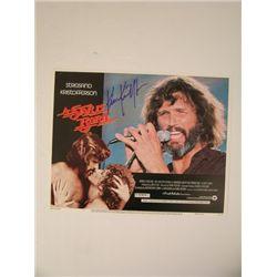 A Star Is Born Kris Kristofferson Signed Lobby Card
