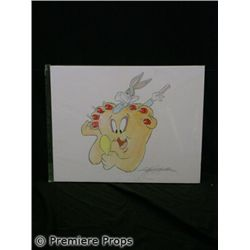 Bugs Bunny Signed Kirk Mueller Watercolor