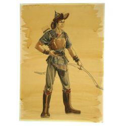 The Conqueror Original Costume Drawing
