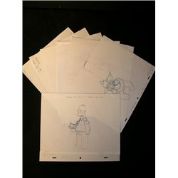 'The Simpsons' Production Sketches Lot