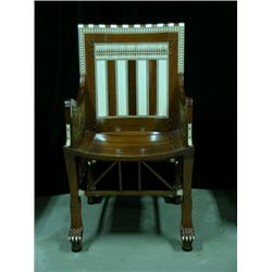 Ten Commandments Bithiah (Nina Foch) Decorative Ivory Chair