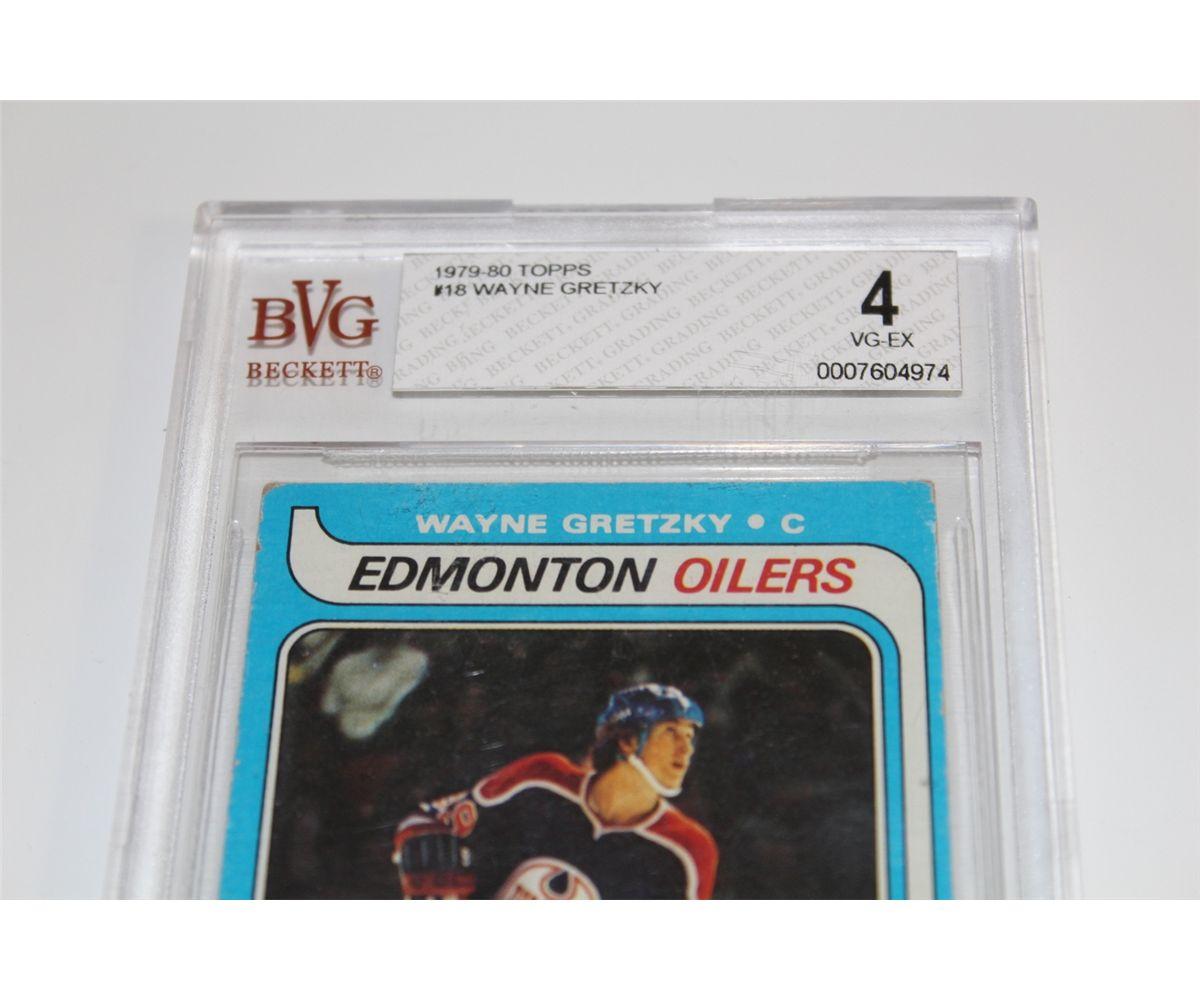 Wayne Gretzky Rookie Card Topps Beckett Graded 4