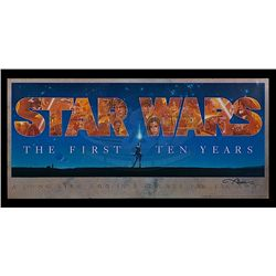 Star Wars: Episode IV - A New Hope - Star Wars 10th Anniversary Signed Poster