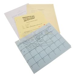 Back To The Future 2 - Production Used Paperwork