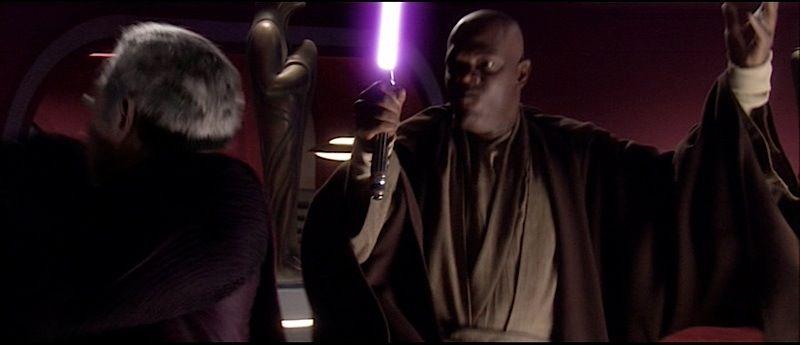 Star Wars Episode Iii Revenge Of The Sith Mace Windu S Fighting Lightsaber