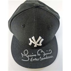 New York Yankees Mariano Rivera Enter Sandman Autographed Baseball Cap.