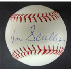 Dodgers Comentator, Vin Scully  AUTOGRAPHED Baseball.