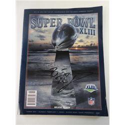 Ben Rothlesburger Autographed Super Bowl Game Program.