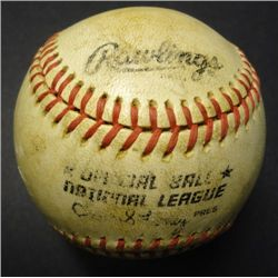 Official Ball National League Charles Feeney Pres with Autograph