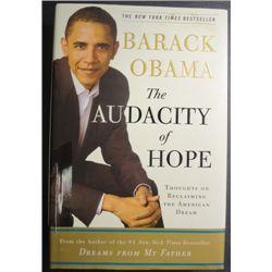 "Barack Obama Autographed Book ""The Audacity of Hope"""