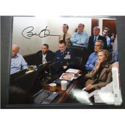 Barack Obama Autographed 8x10 Photo of Situation Room Shot
