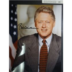 Bill Clinton Autographed 8x10 Photo