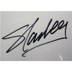 Stan Lee Artist Autographed 8x10 Blank Page