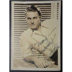 Autographed 5x7 Fan Portrait from 1930's