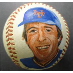 Hand Painted Baseball of Gary Carter NY Mets