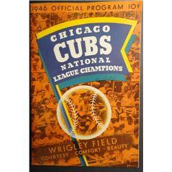 1946 CHICAGO CUBS vs BROOKLYN OFFICIAL PROGRAM