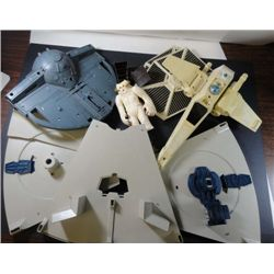 wings for the star wars tie fighter and 3 misc. toy vehicles
