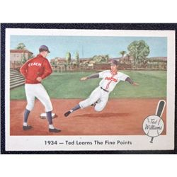 1959 Fleer Ted Williams.  Ted Learns The Fine Points.  NM