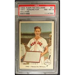 1959 Fleer Ted Williams.  HONORS FOR WILLIAMS.  PSA  NM-MT 8