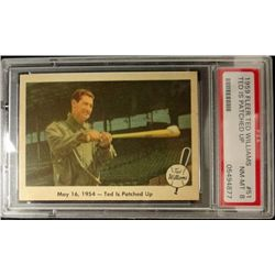 1959 FLEER TED WILLIAMS.  TED IS PATCHED UP.  PSA 8